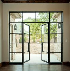 Vision Steel - iron envy doors The way to create areas that available to elegance Glass French Doors, French Doors Patio, Modern Patio Doors, Modern Front Door, French Windows, French Doors Bedroom, Steel Doors And Windows, Glass Front Door, Iron Doors