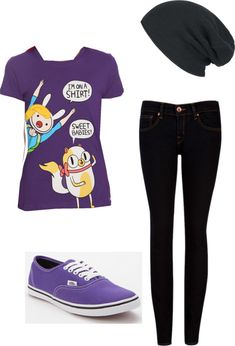 """""""Adventure Time Outfit"""" this looks like something I'd wear Scene Outfits, Emo Outfits, Sunday Outfits, Casual Outfits, Teen Fashion, Fashion Outfits, Womens Fashion, Fashion Styles, Fashion Clothes"""