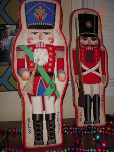 3-demensional needlepoint nutcracker