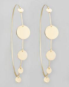 Large Gypsy Hoop Earrings by Lana at Neiman Marcus.