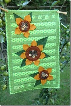 Sunflower Tablerunner Tutorial