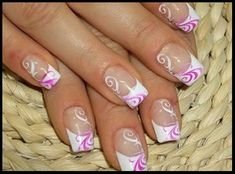 Nail Art Designs With French Manicure-10 - Nail and Hair Care Tips and Tricks by nail2hair.com