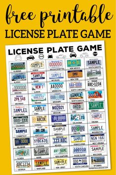 Fun license plate scavenger hunt for kid… Road Trip License Plate Game Printable. Car Ride Activities, Travel Activities, Indoor Activities, Summer Activities, Family Activities, Road Trip With Kids, Travel With Kids, Scavenger Hunt For Kids, Scavenger Hunts