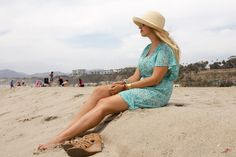 Beachy blues make the perfect #ootd combo with a trip to the beach.