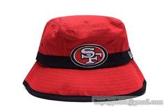 NFL San Francisco 49ers Bucket Hats Red Black-Stripe 81862a8e7