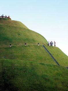 The Kosciuszko Mound, a 19th-century memorial raised in honor of Polish national hero Tadeusz Kosciuszko. A panorama of surrounding Kraków awaits those who reach the top.