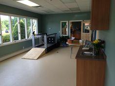 Rehab room with underwater treadmill