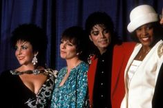 Elizabeth Taylor, Liza with a Z, Michael and Whitney.