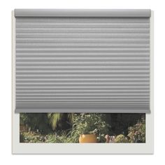 Linen Avenue Custom Cordless Platinum 22- to 23-inches Wide Light-filtering Cellular Shade (23 W x 36 to 42 H), Grey (Polyester)