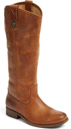 Frye 'Melissa Button' Leather Riding Boot (Extended Calf)
