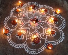 Kolam with lights