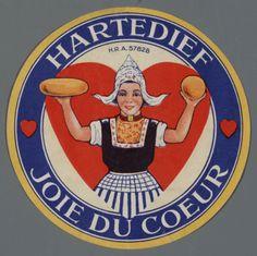 Hartedief Joie du coeur H.v.d. Marel woonde in Woerden, kaasstad bij uitstek en ging met de transporteur vaak mee naar Gouda maar ook Amsterdam. Een oom was kaasproducent en de etiketten werden speciaal geleverd voor zowel de export als wel voor winkeliers in Amsterdam. #NoordHolland #Volendam
