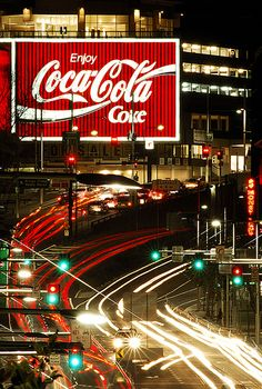 Meet me at the Coke sign