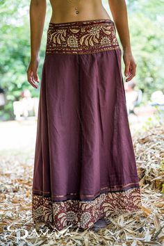 Brown Wrap Maxi Cotton Skirt with Oriental Belt, Long Gypsy Skirt for Women, Handmade Bohemian Tribal Festival Clothing ✦ Celebrate your light and beauty with my bohemian clothing!✦ Using only the best, soft high-quality fabrics my designs are comfortable Boho Chic, Bohemian Skirt, Gypsy Skirt, Funky Outfits, Mode Outfits, Pretty Outfits, Gypsy Style, Bohemian Style, Hippie Style