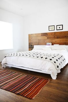 headboard / Scandinavian white bedrooms / apartment therapy
