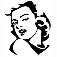 Marilyn Monroe Stencil, Marilyn Monroe Wall Art, Marilyn Monroe Portrait, Vector File, Vector Art, Svg File, Wood Laser Ideas, Types Of Vectors, Ambiance Sticker