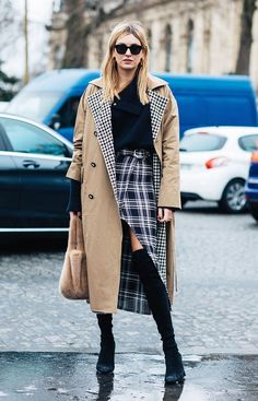 Plaid skirts are one of fall's biggest trends—here are eight street style–approved outfits to try now.