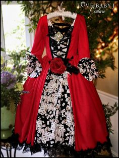 """The Queen Of Hearts""... A Stunning Alice In Wonderland Inspired Ballgown"