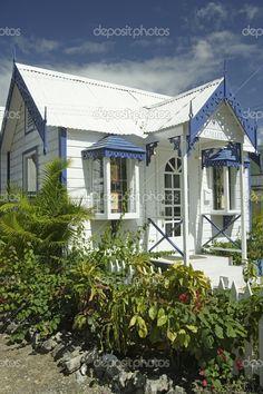 Caribbean, Barbados, Holetown, Chattel Village, architecture