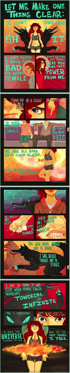 I want to see more of this! More comic art feminist power statements!