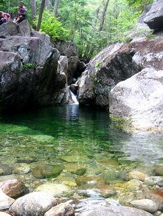 Emerald Pool in Pinkham's Grant lives up to its name. From a distance, the pool on Baldface Mountain is emerald green, but up close the…