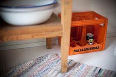 "The orange beer crate screams ""Suomi!"""