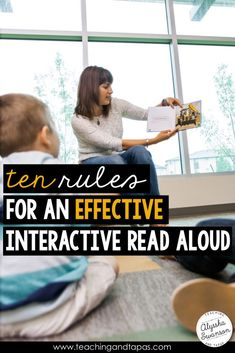 Ten simple rules for teaching reading with an interactive read aloud. The ideas and activities in this post are great for teachers who want to use their favorite books and mentor texts as the main part of their reading lessons.