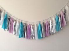 Frozen Lake Tassel Garland - wedding, party decor, nursery, shop display, photo shoot, opening, backdrop