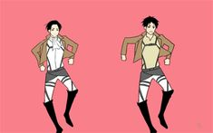 dancing animated GIF OF ATTACK ON TITAN!!! play it with any music (#U#)