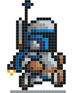 Jango Fett Pixel Art