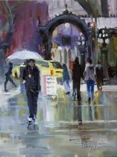 Robin Weiss (Seattle) / White Umbrella / oil