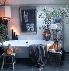 Scandinavian Bathroom / Home design ideas Gorgeous Bathroom, Fall Bathroom, Fall Bathroom Decor, Scandinavian Bathroom, House Design, Bathroom Remodel Master, Dream Decor, Gothic Bathroom, Bathroom Design