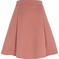 Light pink bonded skater skirt - skater skirts - skirts - women