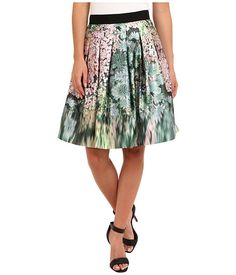 Ted Baker Ovald Glitch Floral Full Skirt - 6pm.com
