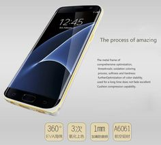 Love Mei Samsung Galaxy S7 Edge Curved Metal Bumper Case