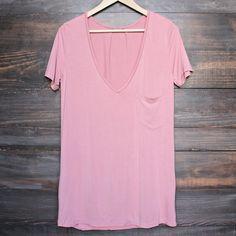 tease me oversize soft v neck tshirt (more colors) – shophearts