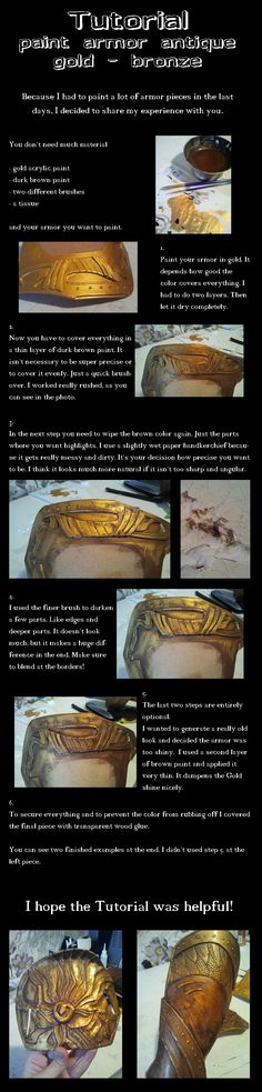 Tutorial paint armor antique gold by Ankh-Feels.deviantart.com on @deviantART