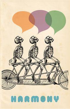 clip art, skeleton, bike, bicycle, tandem bike, secondary colors,