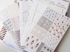 Aztec Sticker Kit (Glam Planner Stickers for Erin Condren Life Planner)