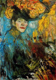 Pablo Picasso (Spanish, 1881-1973), Femme dans la loge [Woman in the loge], 1901. Oil on canvas, 81 x 60 cm. Kunstmuseum, Basel.