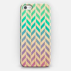 Ombre Herringbone Pattern iPhone 5S Wood Case by Organic Saturation | Casetify #iphone #iphonecase #iphone5s #wood #woodcase #iphonecover #casetify