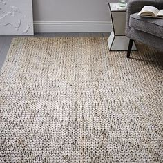 Barley Twist Jute Rug - Platinum  *This is quite beautiful and would add some subtle texture as well. *Living Room option / Office.