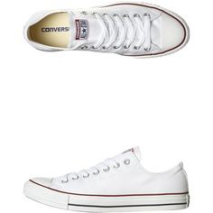 Converse Womens Chuck Taylor All Star Lo Shoe (€72) ❤ liked on Polyvore featuring shoes, sneakers, footwear, white, womens footwear, traction shoes, converse trainers, white low top sneakers, low top and grip trainer
