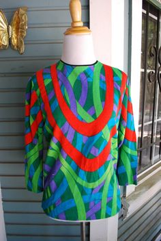 Vintage 1960's psychedelic polyester shirt. by CerealVintageThrift, $14.00
