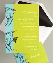 invitations (love fish and colors)