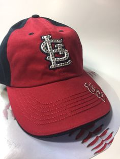 A personal favorite from my Etsy shop https://www.etsy.com/listing/522454887/st-louis-cardinal-bling-hat-with