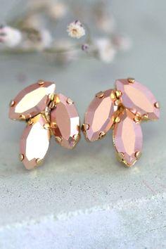Bridal Rose Gold EarringsSwarovski Rose Gold Crystal by iloniti