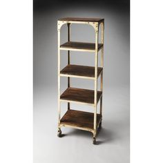 Beautifully blending industrial style with modern elegance, the Butler Blaine Industrial Chic Etagere is a gorgeous addition to your home. Office Furniture Design, Home Furniture, Bookcase Organization, Etagere Bookcase, Industrial Chic, Wood Shelves, Wood And Metal, Solid Wood, Contemporary Furniture