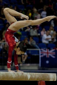 The moment when you can't believe that you are living millions of girls dreams. Ivana Hong   |    moved from Kythoni's Gymnastics: The Balance Beam board: https://pinterest.com/kythoni/gymnastics-the-balance-beam/  p.1.4 #KyFun 41.208