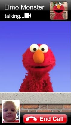 How to let your toddler FaceTime with Elmo!! There is also Calling Cookie Monster.